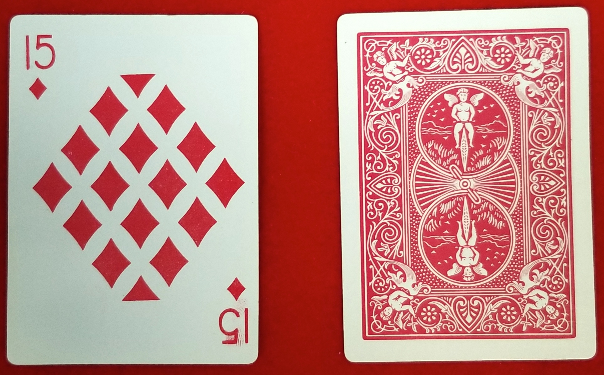 Playing Cards - 15 Diamonds - Imprints - One Dozen