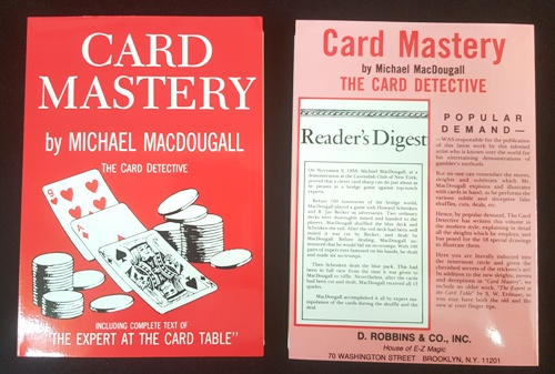 Card Mastery by MacDougall and Expert at the Card Table by Erdnase