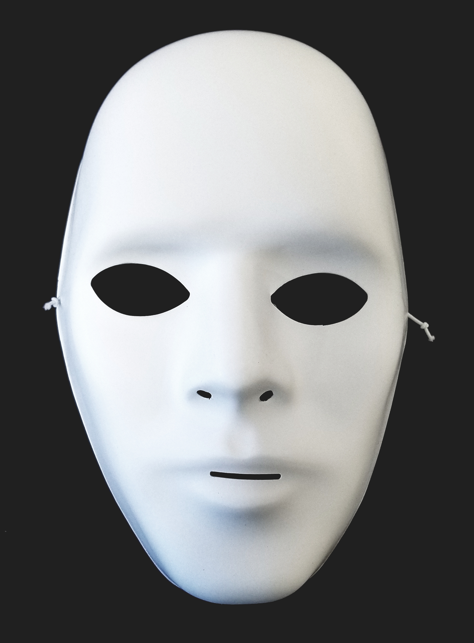Male Blank White Matte Mask