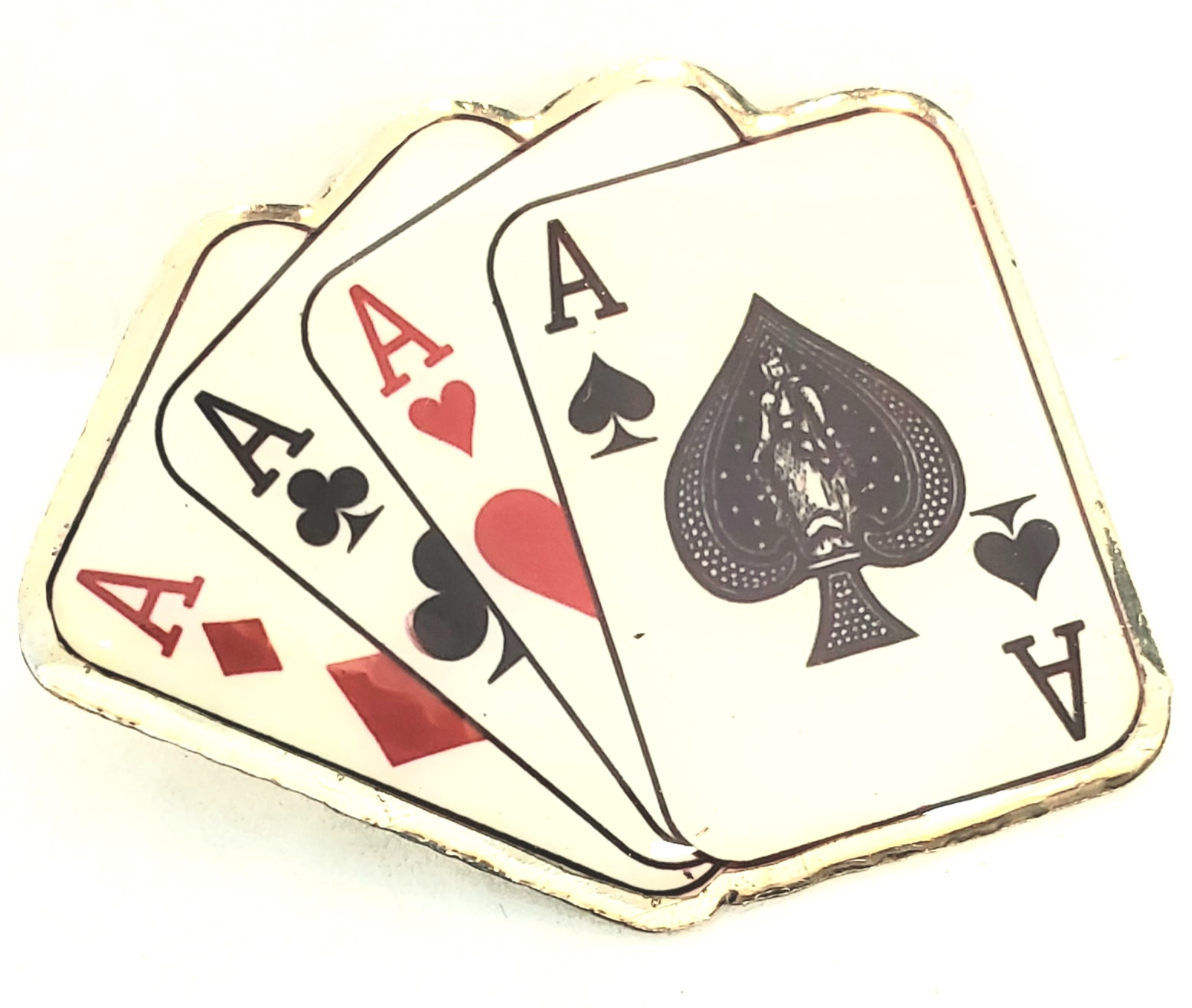 Magician's Lapel Pin - 4 Aces (FT)
