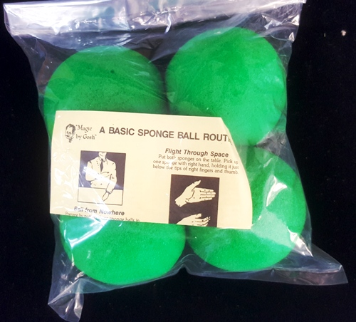 Sponge Balls - Supersoft - Ultrabrite - Green - 3""
