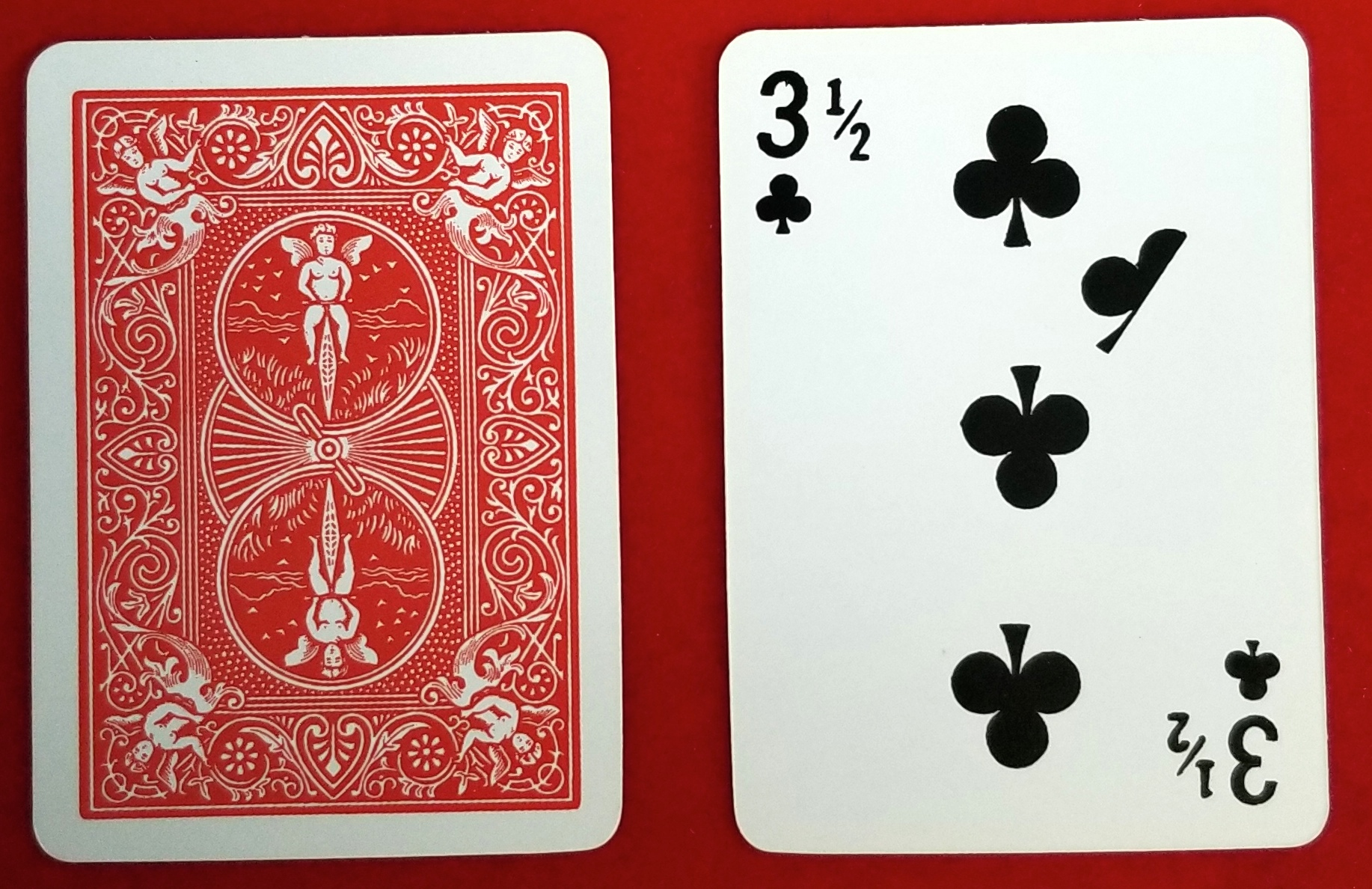 Playing Cards - 3 1/2 Club - Imprints - One Dozen