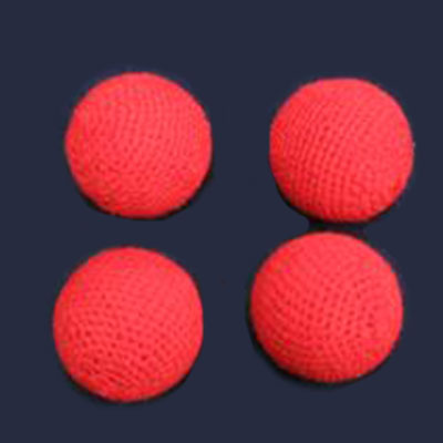 "Chop Cup Combo Balls - 3/4"" Crocheted Balls (FT) - Set of 4"