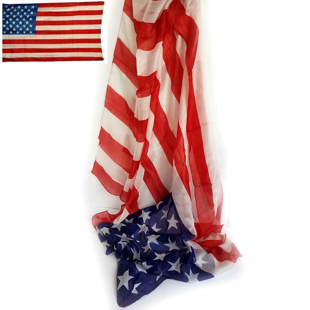 "American Flag Production Silk 36"" x 60"" (FT)"
