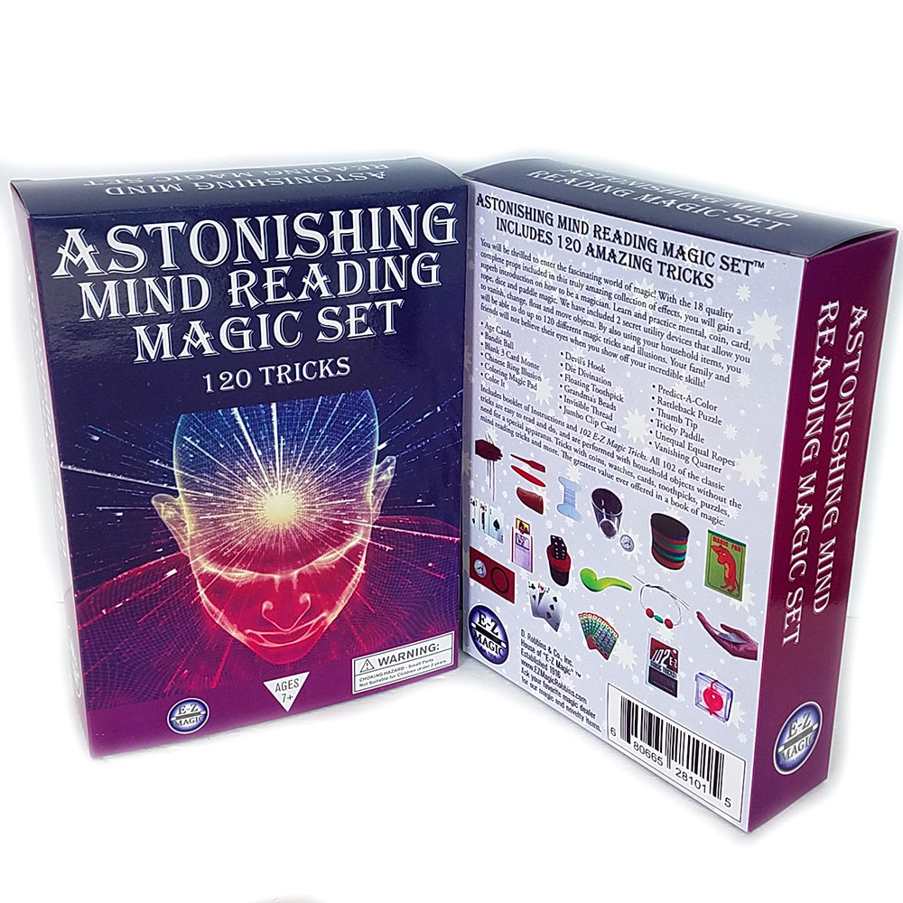 Astonishing Mind Reading Magic Set - 120 Tricks Magic Kit (FT)