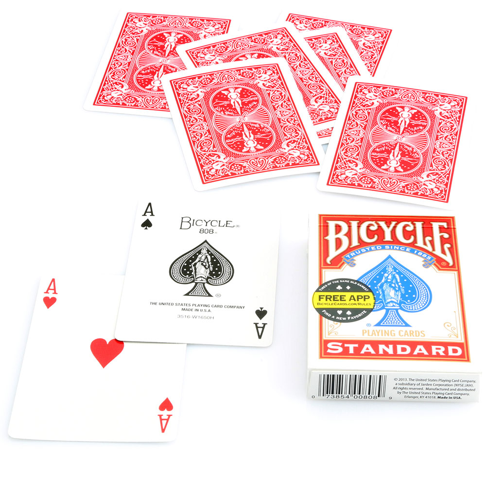 Bicycle Poker Standard Index Deck #808 - Red