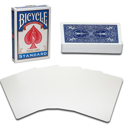 Bicycle Blank Face Poker Utility Deck - Blue