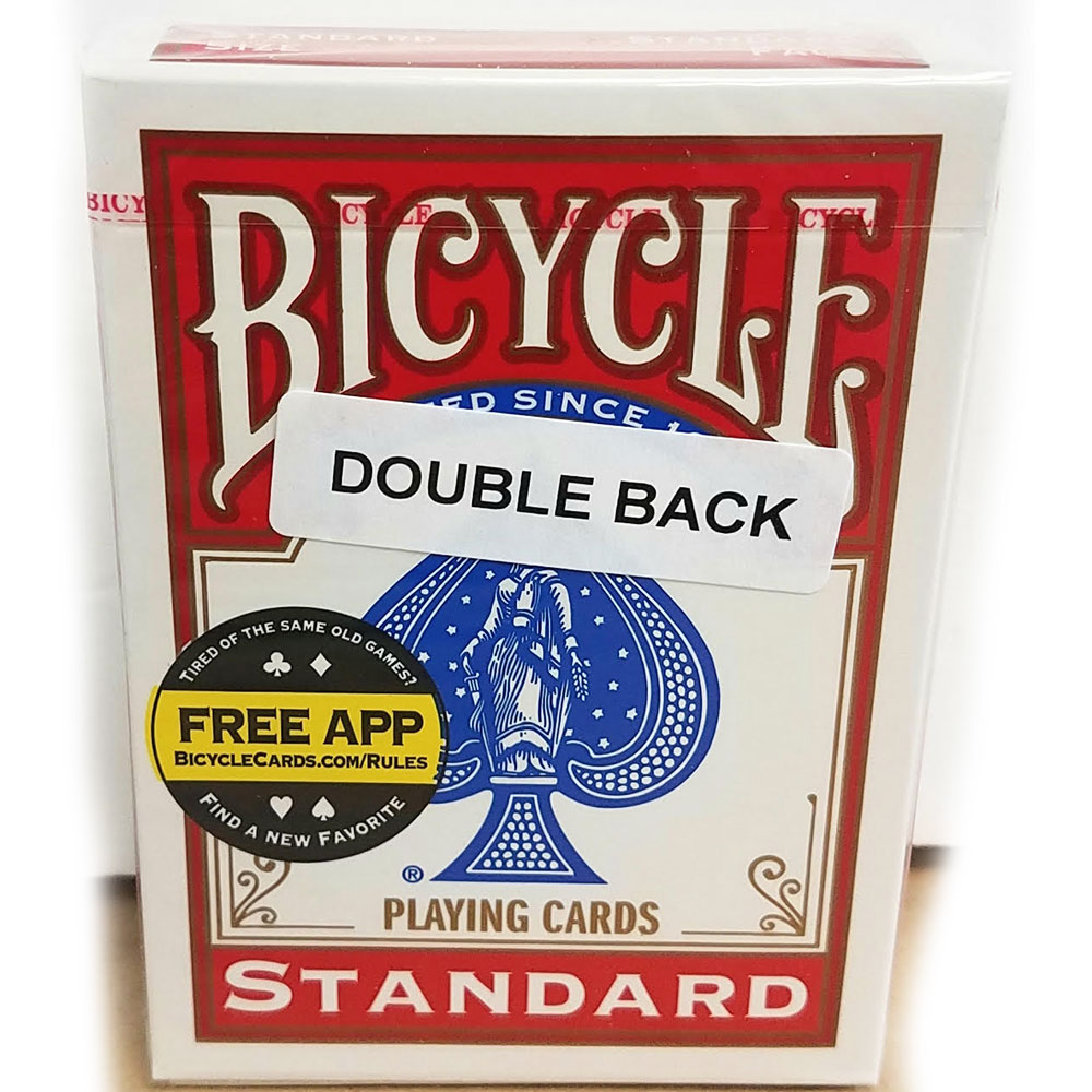 Bicycle Double Back Poker Utility Deck - Red