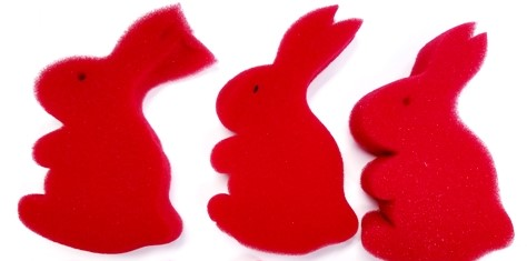 25 TRICKS WITH SPONGE RABBITS BOOKLET Multiplying Bunnies Magic Book Foam Red