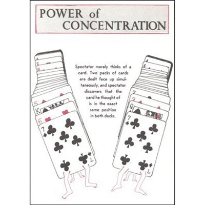 Power of Concentration Card Routine by P. Curry