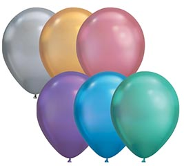 Qualatex 11 Inch Round Chrome Assortment Balloons Bag of 100