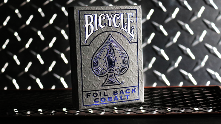 Bicycle Rider Back MetalLuxe Foil Back Deck II - Cobalt Blue