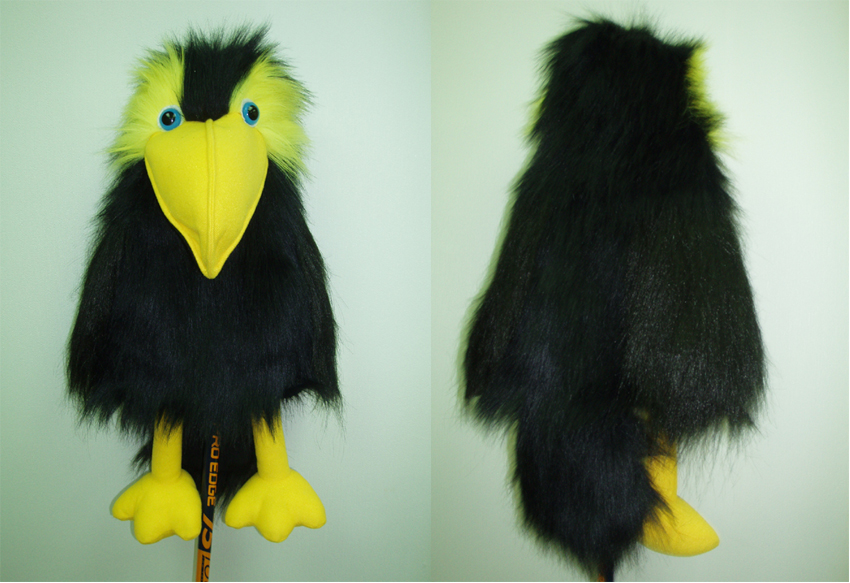 Puppet Black Crow 16""