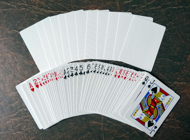 Bicycle Blank Back Poker Utility Deck