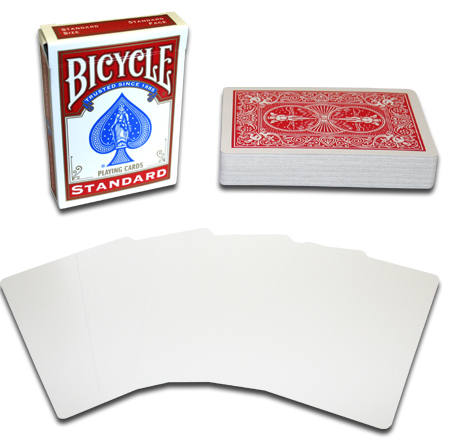 Bicycle Blank Face Standard Poker Deck - Red