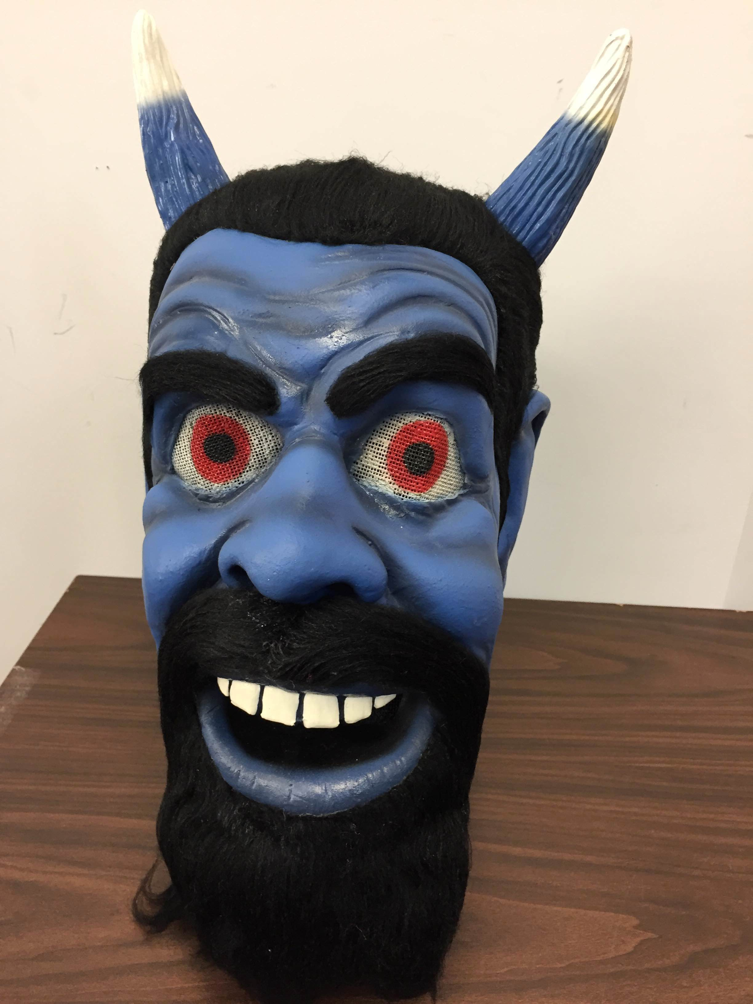 Blue Devil Latex Mask & Costume One Size Complete - Mask Illusions