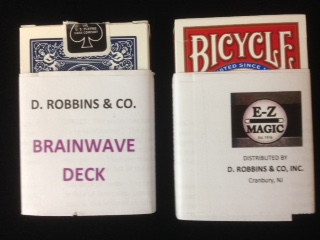 Brainwave Bicycle Poker Deck (E-Z) - Improved