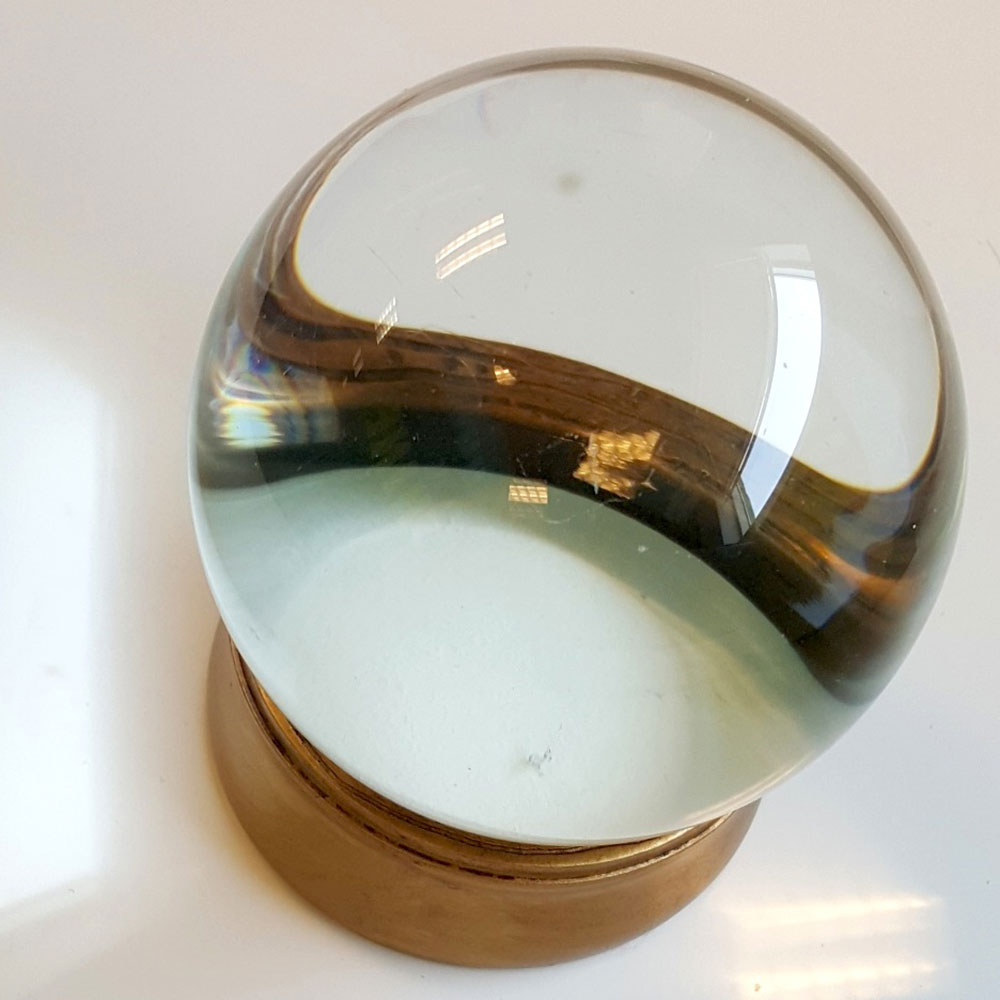 "Crystal Ball with Stand 4"" - China"