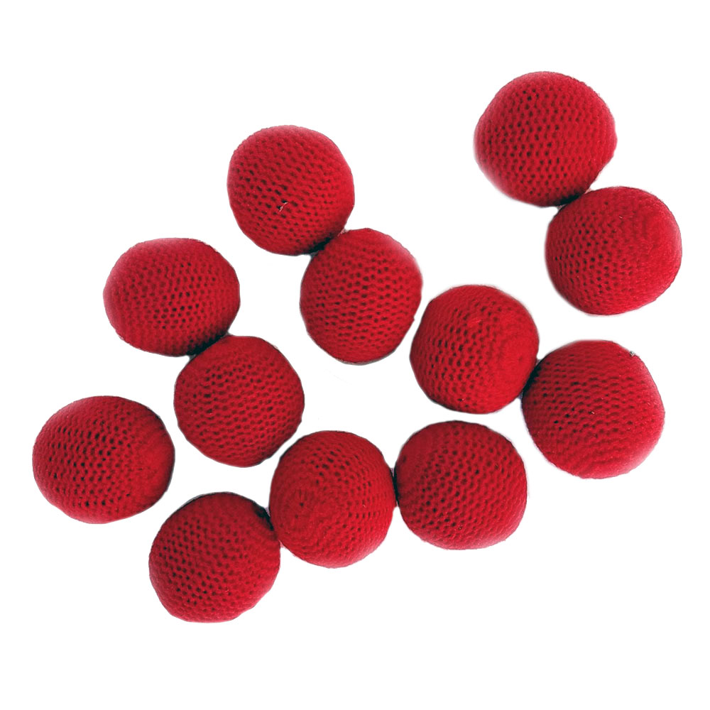 "Crocheted Balls - Wool over Plastic 1.5"" - Pack of 12"