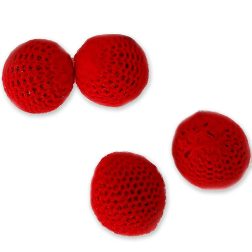 "Crocheted Balls - Wool over Plastic 1.25"" - Set of 4"