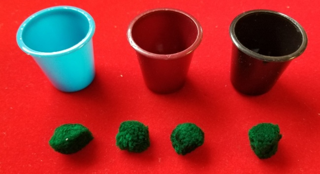 Cups and Balls - Mini Plastic 100 sets (FT)