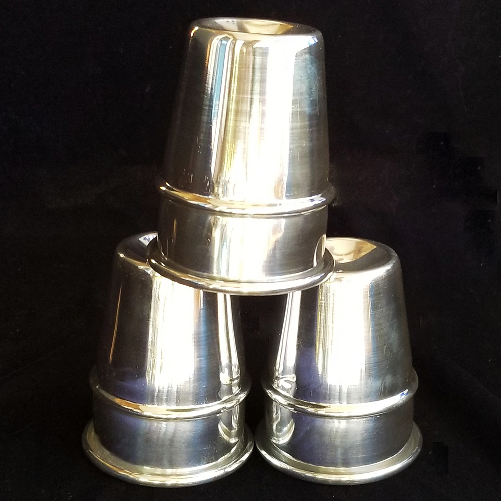 Cups and Balls Set - Aluminum (Petrie Lewis)