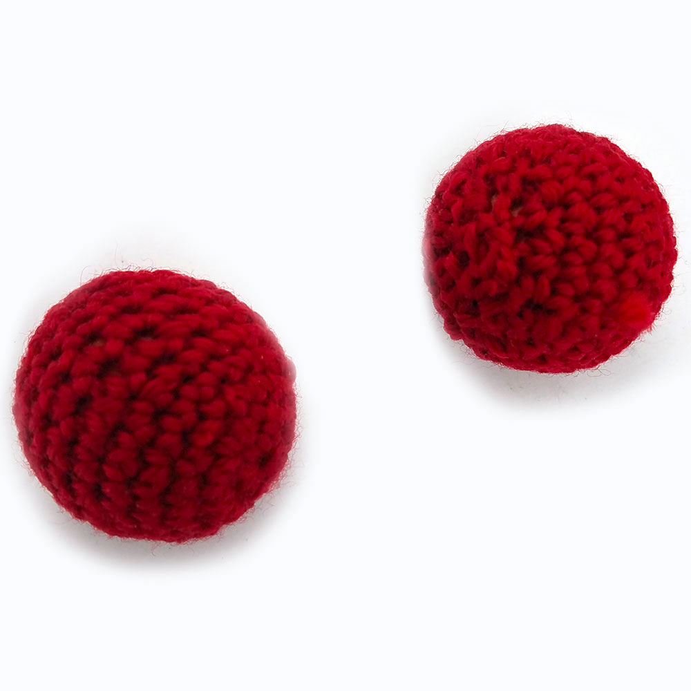 "Chop Cup Balls - 3/4"" Crocheted Balls (FT) - Set of 2"