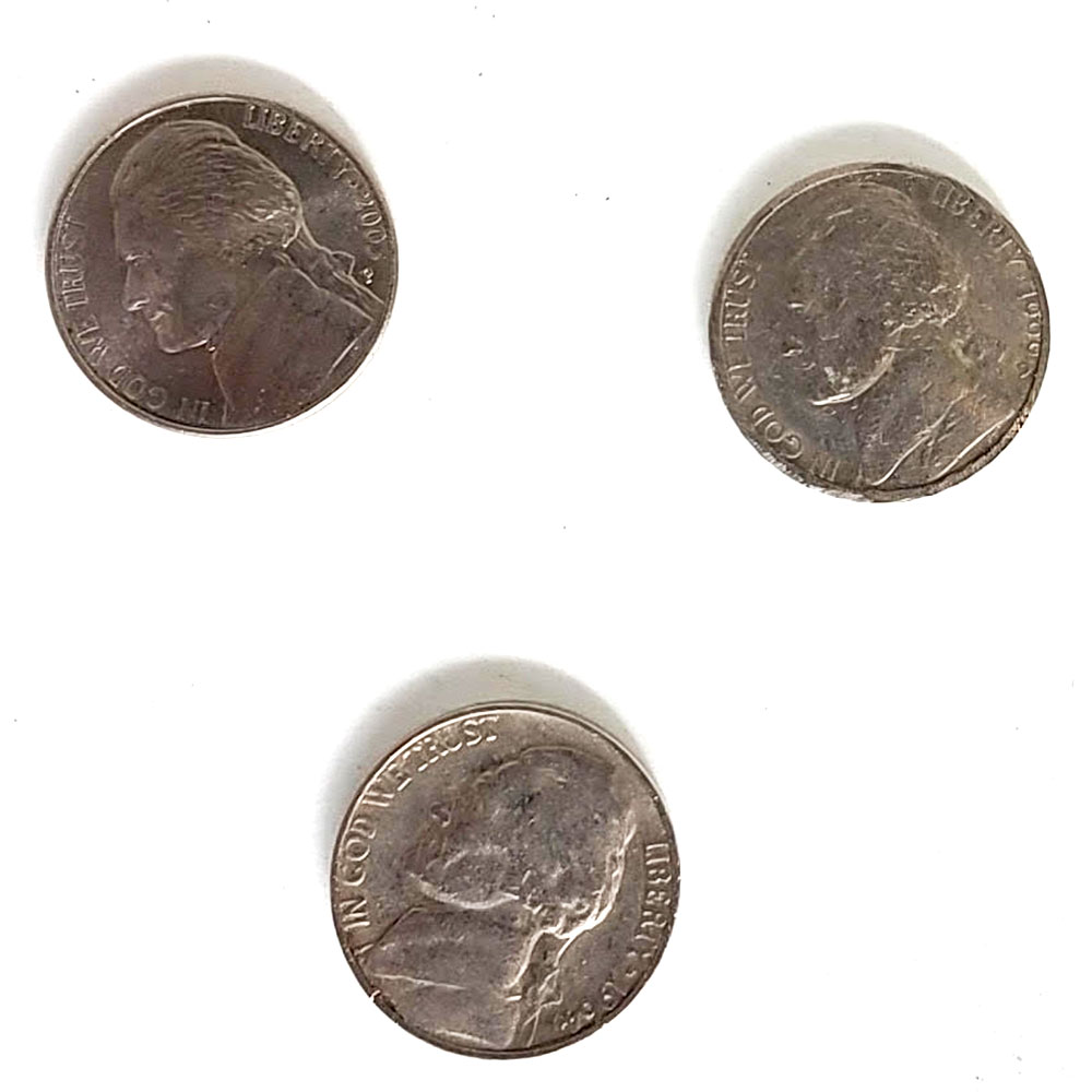 Double Sided Coins - Nickel - Heads - Pack of 6