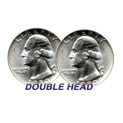 Double Sided Coins - Quarter - Heads - Pack of 6