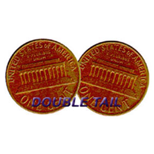 Double Sided Coins - Penny - Tails - Pack of 6