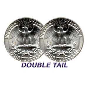 Double Sided Coins - Quarter - Tails - Pack of 6