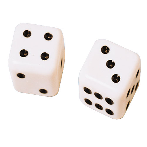 Dice Solid White - Pack of 100