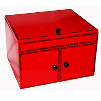 Drop Down Mirror Large Production Box - Red (Ickle Pickle)