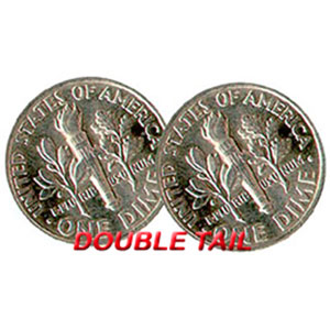 Double Sided Coins - Dime - Tails
