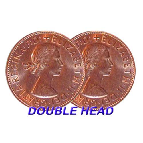 Double Sided Coins - English Penny - Heads