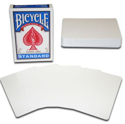 Bicycle Double Blank Poker Utility Deck Blue