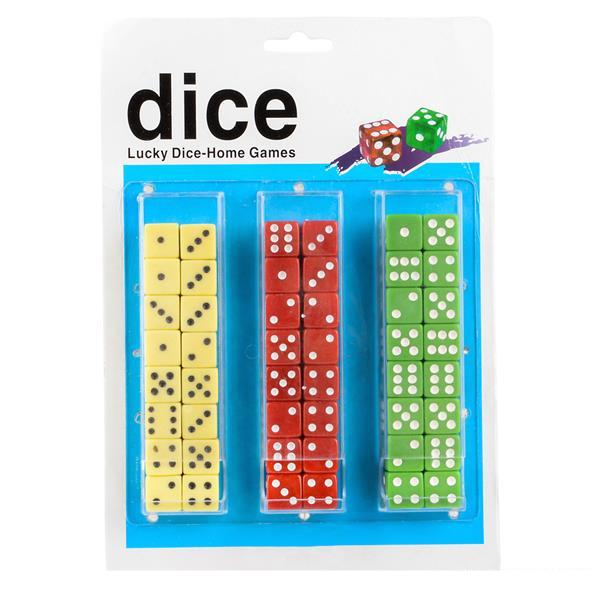 Top Grade Dice - Card of 24 pairs