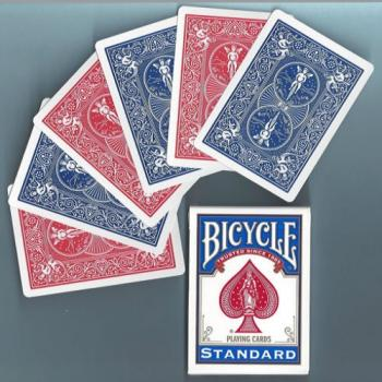 Bicycle Double Back Poker Utility Deck - One Side Red, One Side Blue