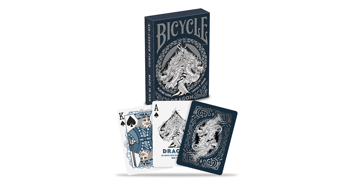 Bicycle Silver Dragon Playing Cards Deck