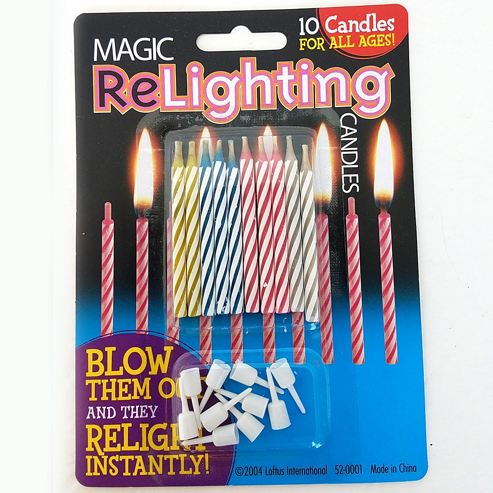 Everlit ReLighting Birthday Candles - Pack of 12