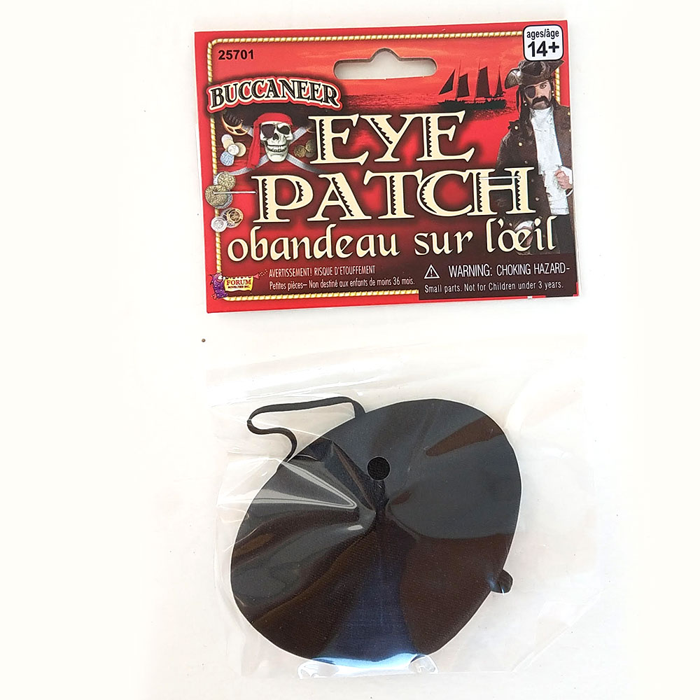 Eye Patch Black Satin - Pack of 12
