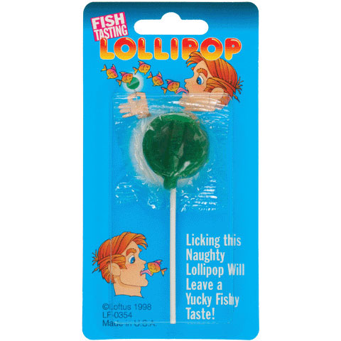 Fish Flavored Lollipops - Pack of 12