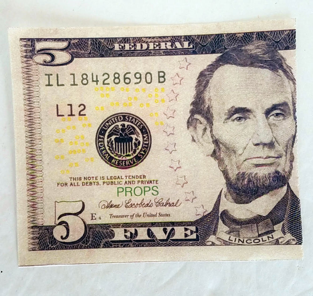 Flash Dollar Bills - US $5 - Pack of 10