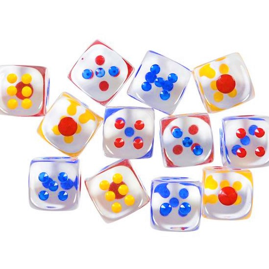 "1"" Transparent Dice"