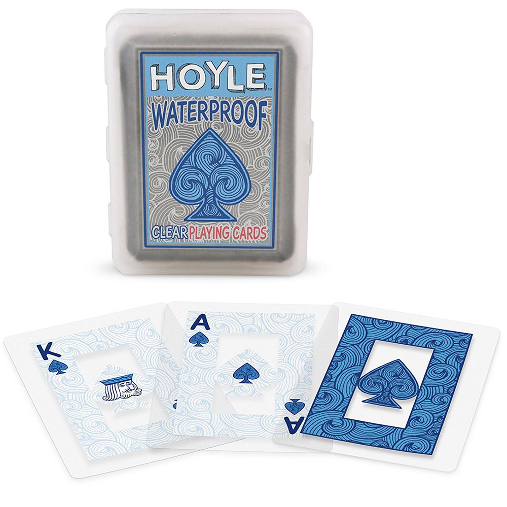 Hoyle Waterproof Clear Playing Card Deck