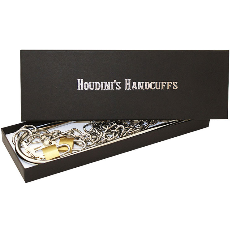 Houdinis Handcuffs Chrome with Padlocks (VDF)