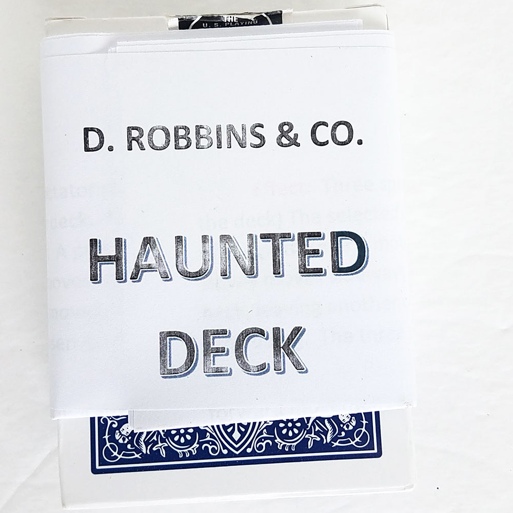 Haunted Deck Bicycle Poker (E-Z) - Blue