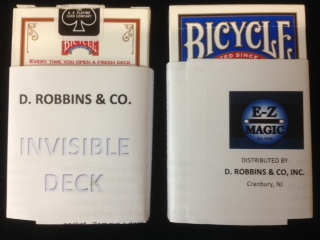 Invisible Bicycle Poker Deck (E-Z) - Improved