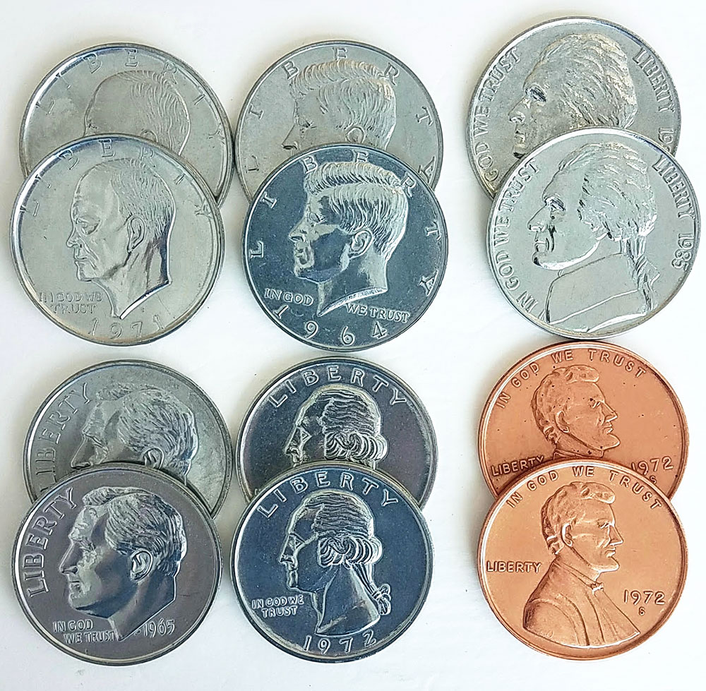 Jumbo Coins - Assorted - Metal