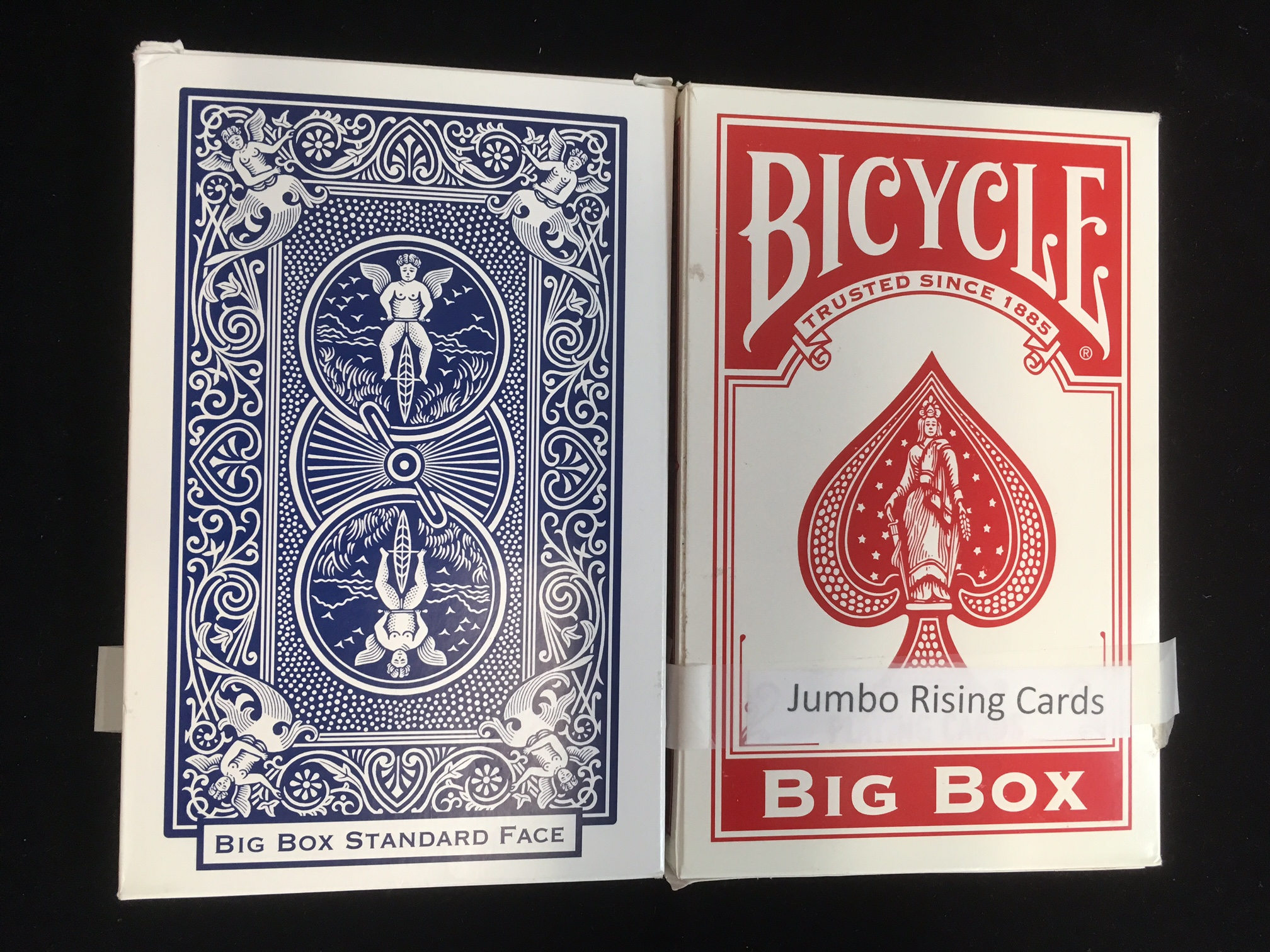 Rising Card Jumbo Bicycle Stage Size